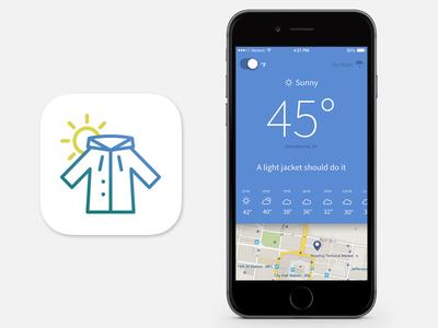 Meet Jacket app jacket weather iso