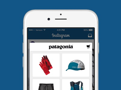 Purchasing products on Instagram mobile ios shopping products ui ux instagram