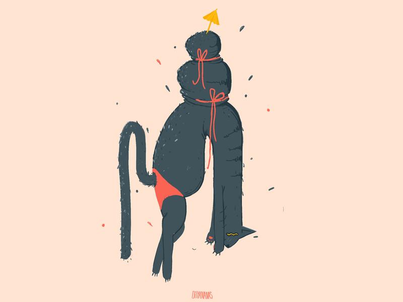 Cat. summer cat design photoshop illustration characterdesign character