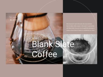 Blank Slate Coffee Redesign