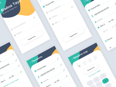 Payment Mobile App Concept for Residential Complex