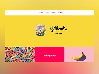 Gilbert's Candy Store websitedevelopment websitedesign design websitedesigner ux ui minimal website html css webdevelopment webdeveloper webdesign web