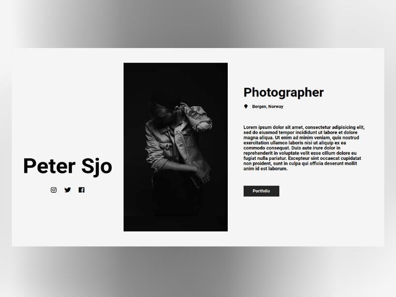 Peter Sjo webdeveloper webdevelopment webdesign websitedesigner websitedesign website web ux ui minimal css html design