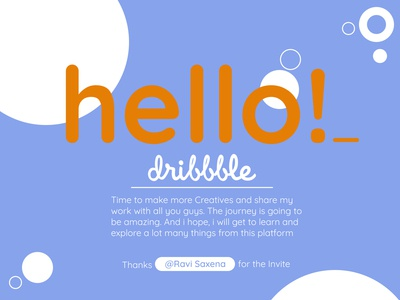 Hello Dribbble - My First Shot