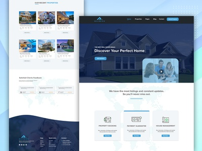 Real estate properties landing page