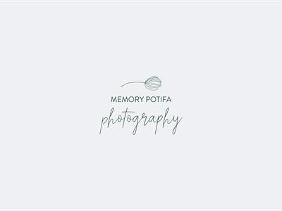 Memory Potifa Photography / Logo brand identity design logotype brand design illustration design procreate graphic design logo brand identity graphic design branding logodesign logo