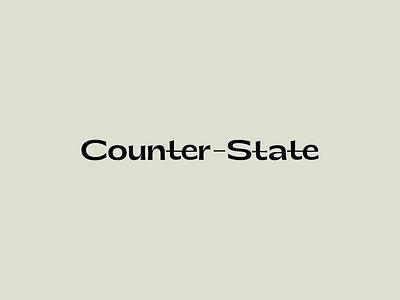 Counter–State Logotype brand identity designer logo design branding brand identity design brand designer logo brand identity brand design graphic design logo graphic design branding brand and identity logo designer logodesign logotype