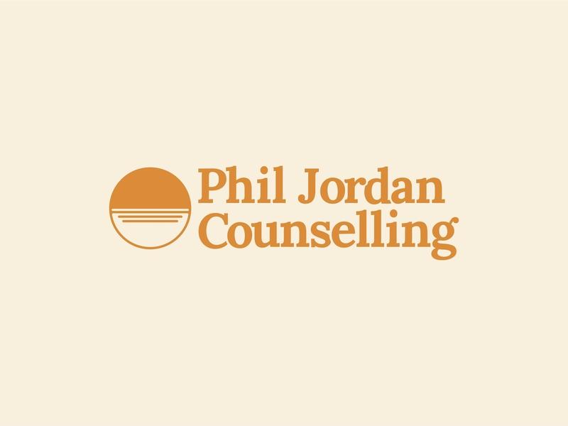 Logo Design // Phil Jordan Counselling graphic design logotype logodesign branding logo graphic design logo brand and identity