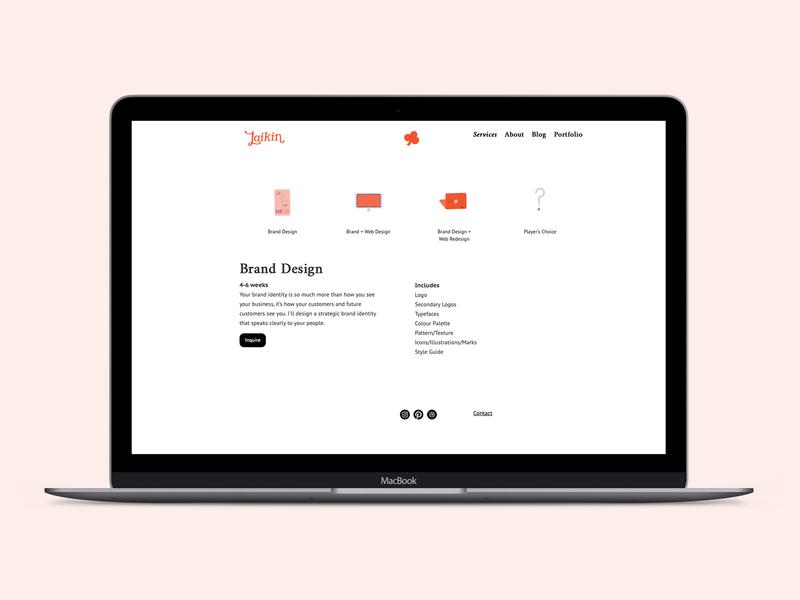 Web Design // Laikin Studio brand design branding design website webdesign webflow website design brand and identity
