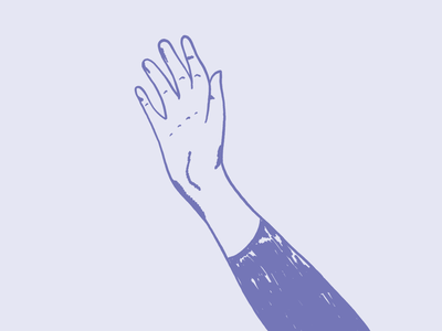 Waving Hand Illustration wave hello waving hand violet graphic design procreate design illustration design illustration