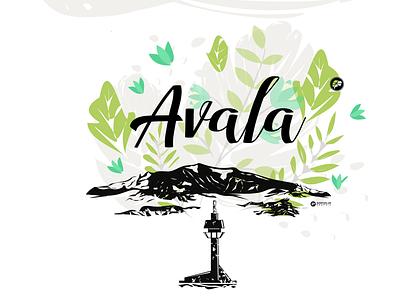 Avala Mountain Belgrade design illustrations branding vector illustrations flat illustration