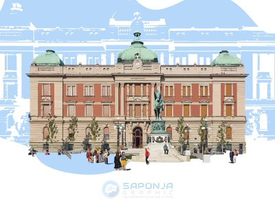 The National Museum in Belgrade by Igor Saponja ux ui logo typography graphic  design logo design illustrator illustration adobeillustator vector branding