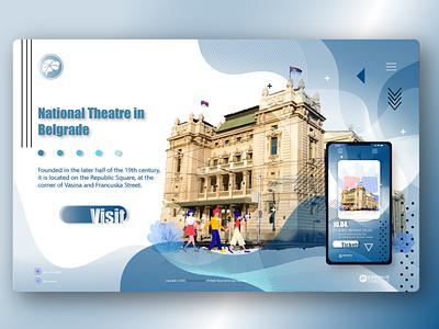 Web page design National Theatre website design ui  ux user experience webdesign ui typography graphic  design illustrator illustration adobeillustator vector branding