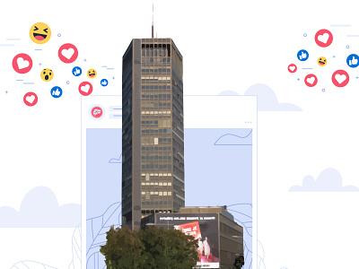 City Building Vector Design design ux logo ui graphic  design illustrator illustration adobeillustator vector branding