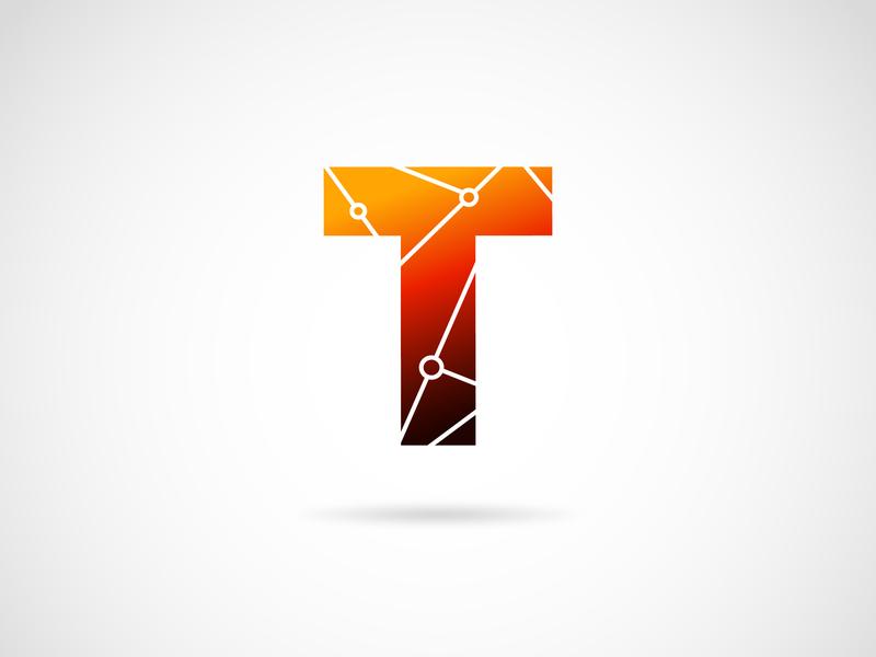 Letter T logo website type flat app animation web icon minimal design ux ui logo illustration typography logo design illustrator graphic  design vector branding adobeillustator
