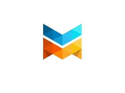 M letter logo desing