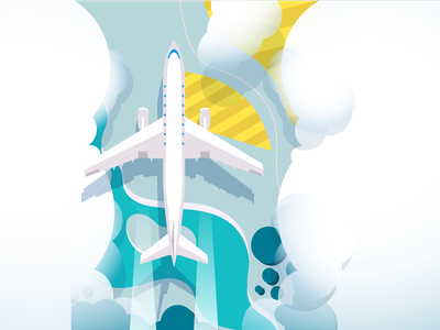 Plane airport terminal ui logo illustration typography logo design illustrator graphic  design vector branding adobeillustator