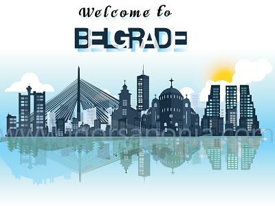 Welcome to Belgrade by Igor Saponja ux ui logo illustration typography logo design illustrator graphic  design vector branding adobeillustator