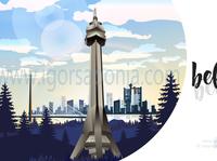 avala tower belgrade by igor saponja