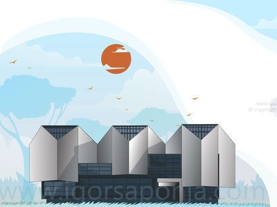 Museum of modern art belgrade by igor saponja ui logo illustration typography logo design illustrator graphic  design vector branding adobeillustator