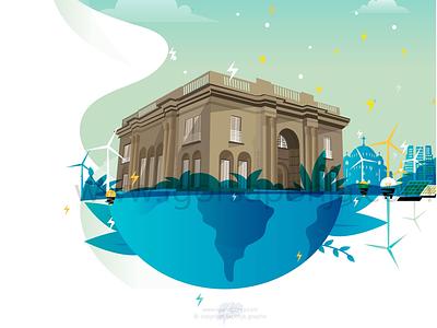 Nicola Tesla Museum graphic desing vector illustration