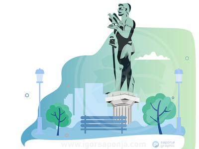 Victor Monument, Begrade design branding illustration graphic design vector graphic city illustration