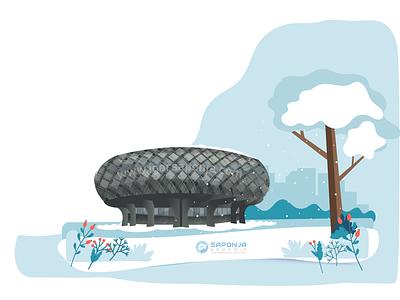 The Aeronautical Museum Belgrade by Igor Saponja city illustrations vector illustration graphic design