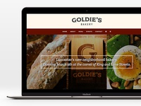 Goldie's Bakery Website