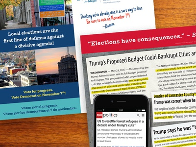 Mayoral Election Headlines Mailer trump lancaster get out the vote gotv mailer political