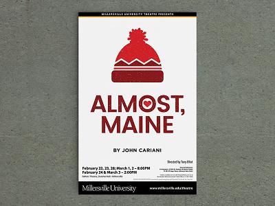 Almost, Maine poster print university theatre