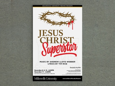 Jesus Christ Superstar poster print university theatre