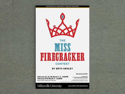 Miss Firecracker poster print university theatre