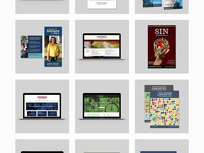 Simple Project Grid wip portfolio website