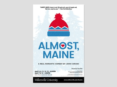 ALMOST, MAINE (Final) theatre poster