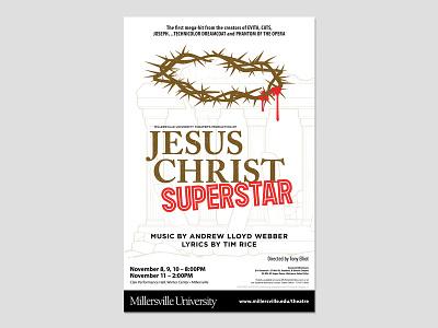 JESUS CHRIST SUPERSTAR (Final) theatre poster