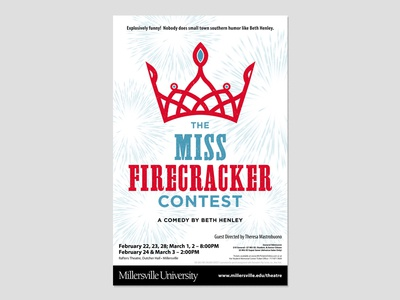 MISS FIRECRACKER CONTEST (Final) theatre poster