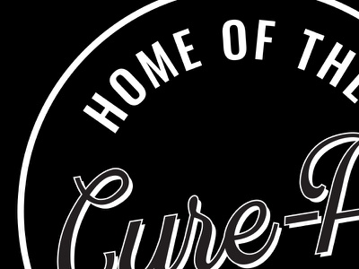 Cure All typography