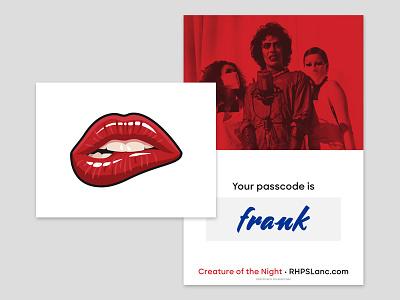 Rocky Horror Teaser print postcard notecard rocky horror rhps