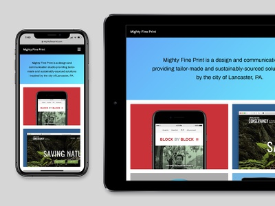 Mobile Views website webdesign web typography portfolio site portfolio grid layout grid gradients gradient colorful