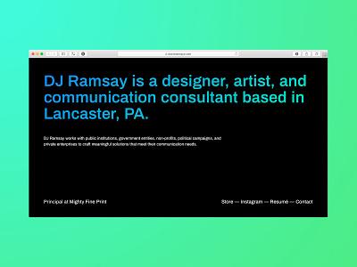 Personal Splash Page gradient text gradient typography website one page onepage splashpage splash page poster