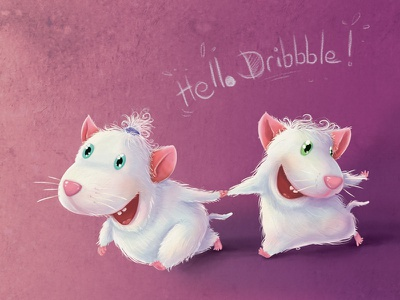 Mice illustration childrens books
