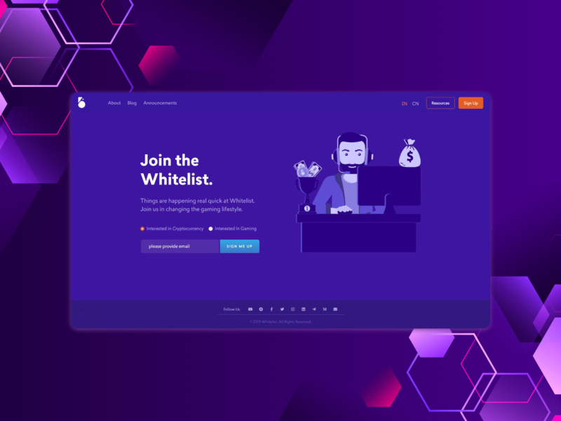 Landing page for a crypto crypto website minimal flat web typography branding vector ui