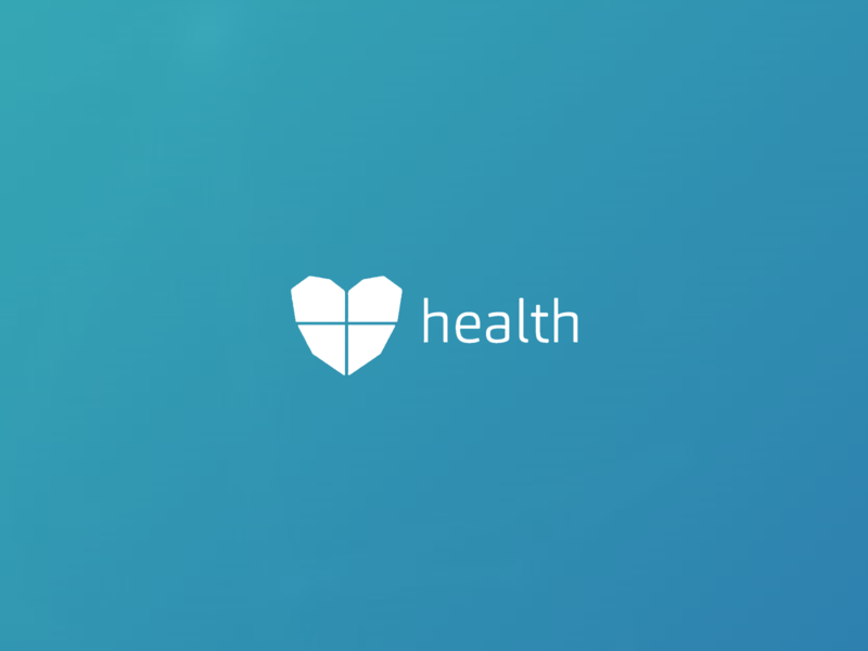 Health project logo branding typography illustration minimal logo