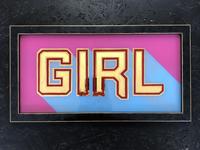 Girl gold sign