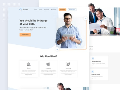 Landing Page Exploration Cloud Company