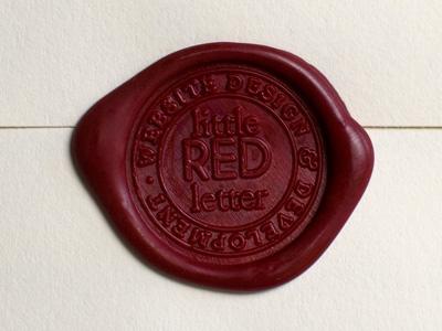 Little Red Letter Wax Seal by Rik Hudson | Dribbble | Dribbble