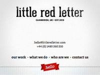 New 'Little Red Letter' site is live!