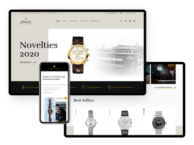Atlantic Watches moye moyedesign tradition watches watch webdesign website