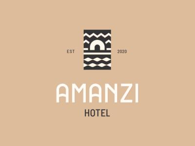 Amanzi Hotel hotel branding minimal ornaments ornament luxury logo luxury moye moyedesign logo africa african hotel
