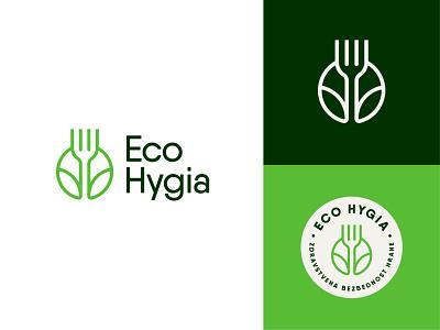 Eco Hygia ecology logodesign design vector logo branding moyedesign moye